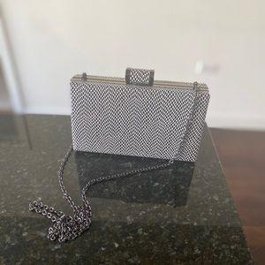 AKIRA Box Clutch w/ Removable Chain Strap